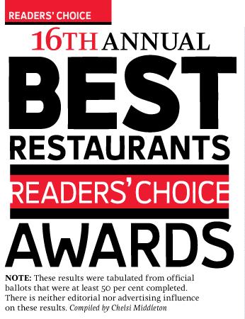 2010 Best Restaurants Readers' Choice