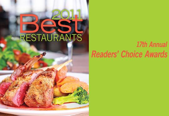 2011 Best Restaurants Readers' Choice Awards