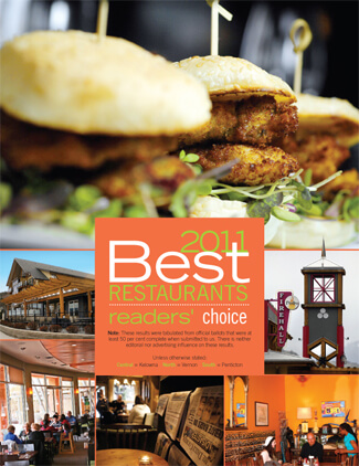 2011 BEST RESTAURANTS READERS' CHOICE