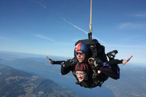 Skydiving as art
