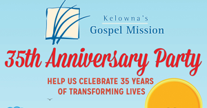 Kelowna Gospel Mission celebrates 35 Years