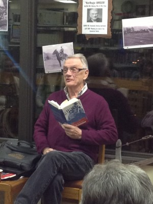 George Bowering at Summerland Branch library during Okanagan Reads