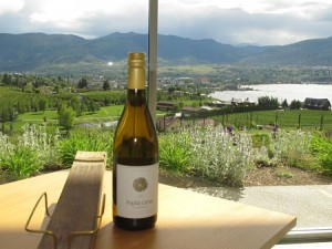 Poplar Grove wine and view