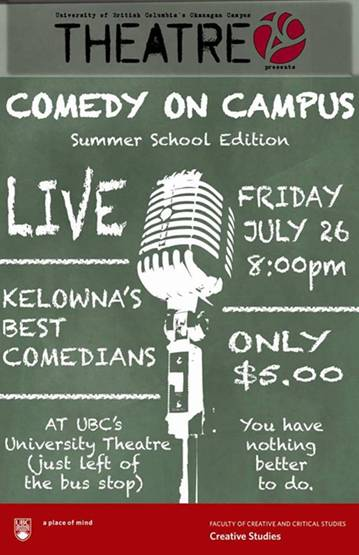 Comedy on Campus – Theatre 26