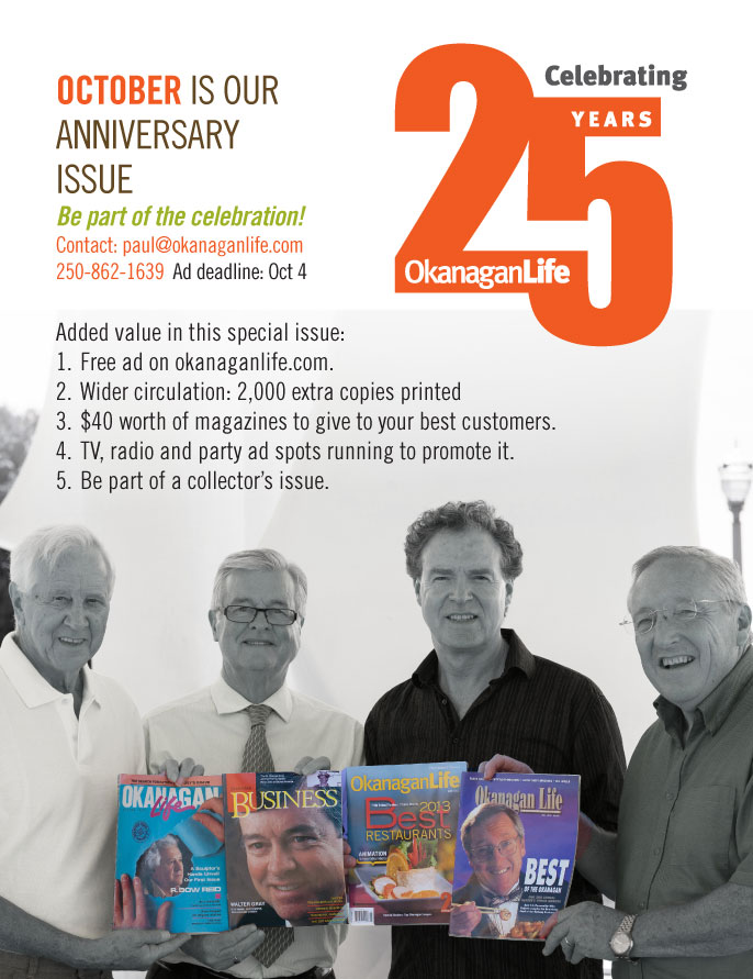 October is our anniversary issue