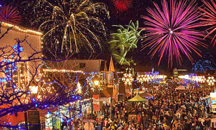 Dance in the streets at Summerland Festival of Lights