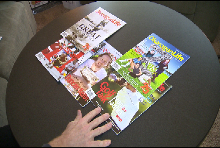 Global Okanagan reports on magazine milestone