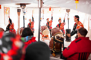Ski-resorts-first Chinese New Year-drummers