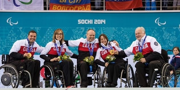 wheelchair curling gold