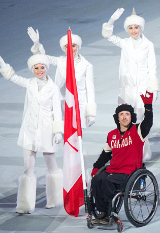 Paralympic-flags-josh-dueck-closing-ceremonies-sochi