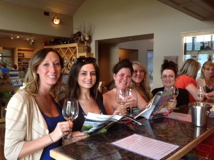 Tasting at Tinhorn wines