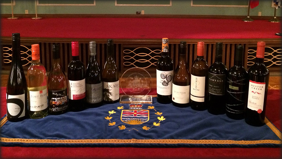 Lieutenant Governor presents wine awards