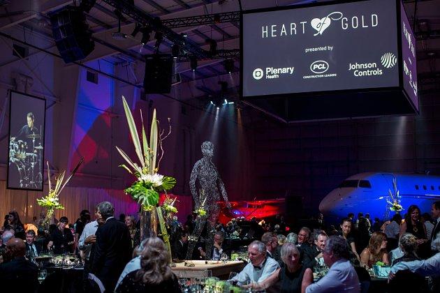 KGH Foundation's 2014 Heart of Gold Gala in Kelowna Flightcraft Hange