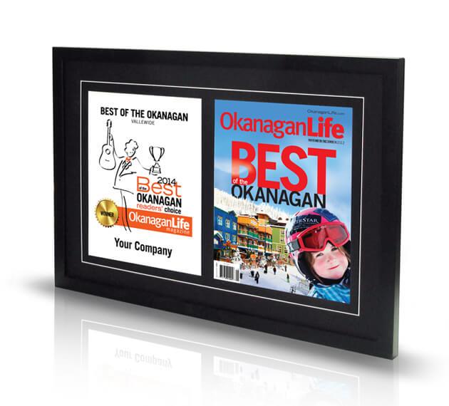 Double frame: award + magazine cover