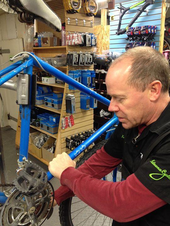Winter Workshop Repairs Charity Bikes