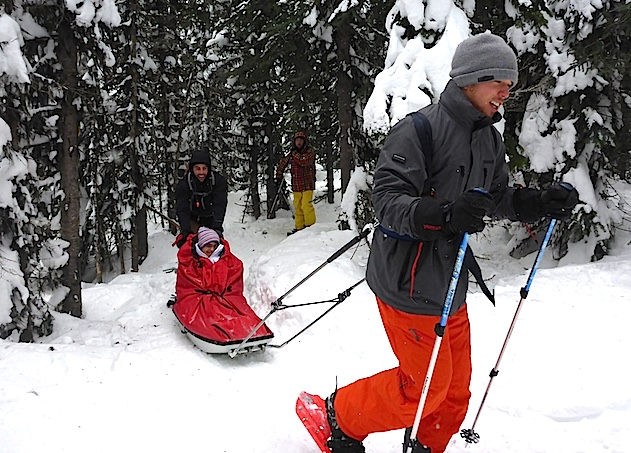 Snowshoeing: Adaptive Adventures at Sovereign Lake