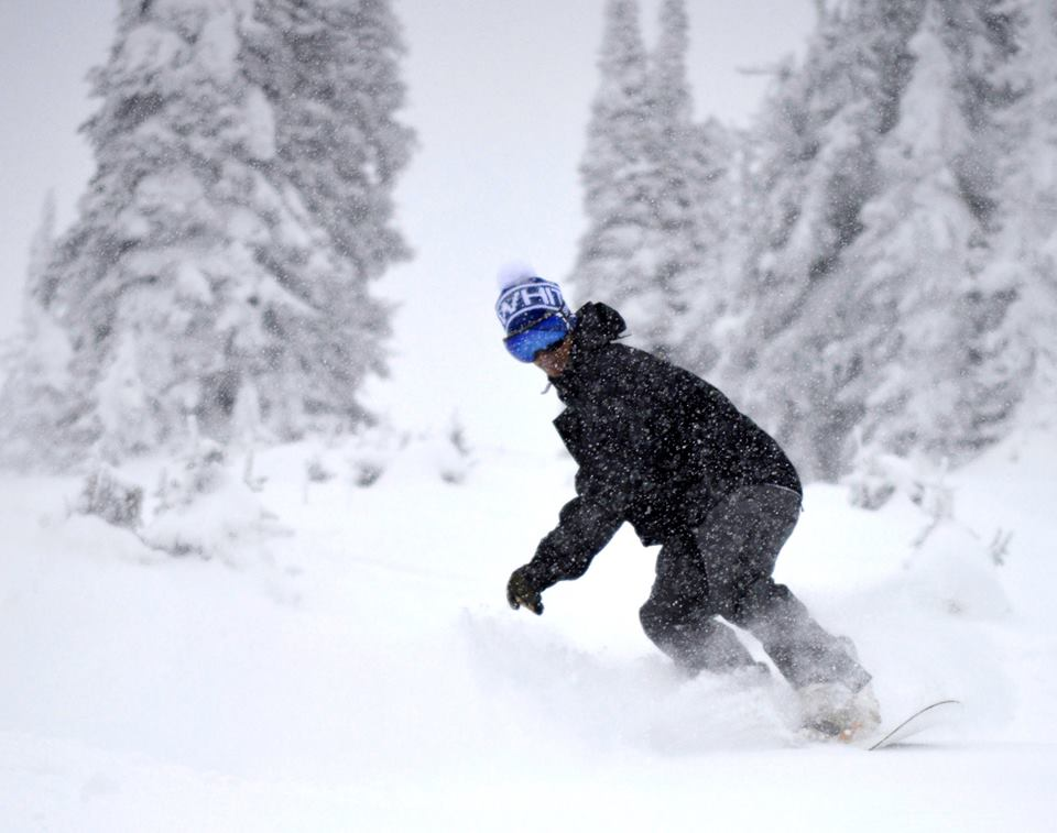 Powder Dump on Okanagan Valley