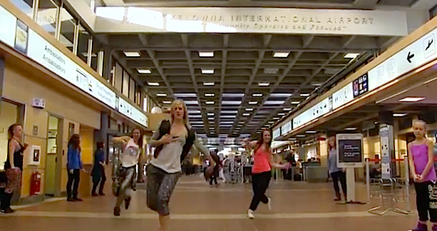 Video: Kelowna Dancers funk up the airport
