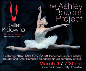 Ballet Kelowna presents The Ashley Bouder Project @ Kelowna Community Theatre | Kelowna | British Columbia | Canada