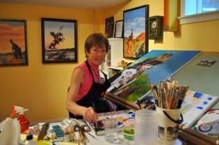 Dorothy-Tinning-Artist-Painting