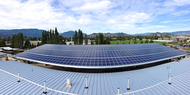 Solar Panels Power Up College's Kelowna Campus