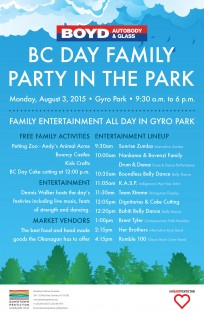 BC Day Family Party in The Park @ Gyro Park | Kelowna | British Columbia | Canada