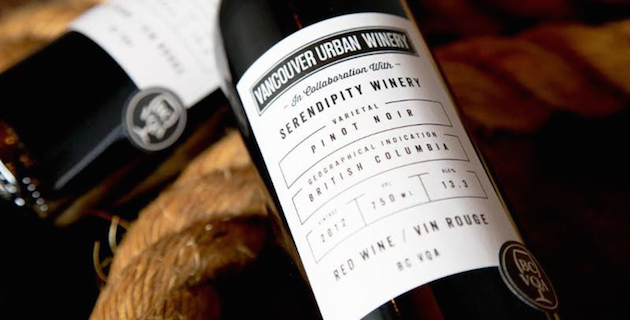 Vancouver Urban Winery partners with Serendipity Winery on new Pinot Noir