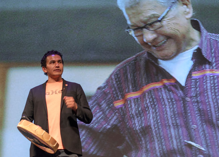 Wab Kinew speaks of forgiveness, reconciliation, and love