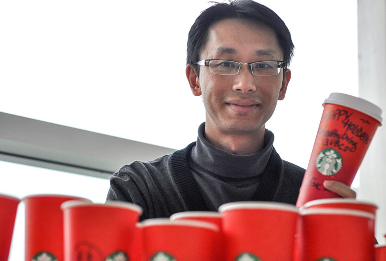 Seeing red: the science behind the holiday cups
