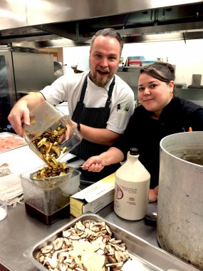 Chantelle Eustache and Chef Ryan O'Flynn
