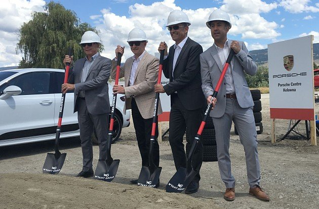 Porsche Cars Canada-Porsche Centre Kelowna breaks ground