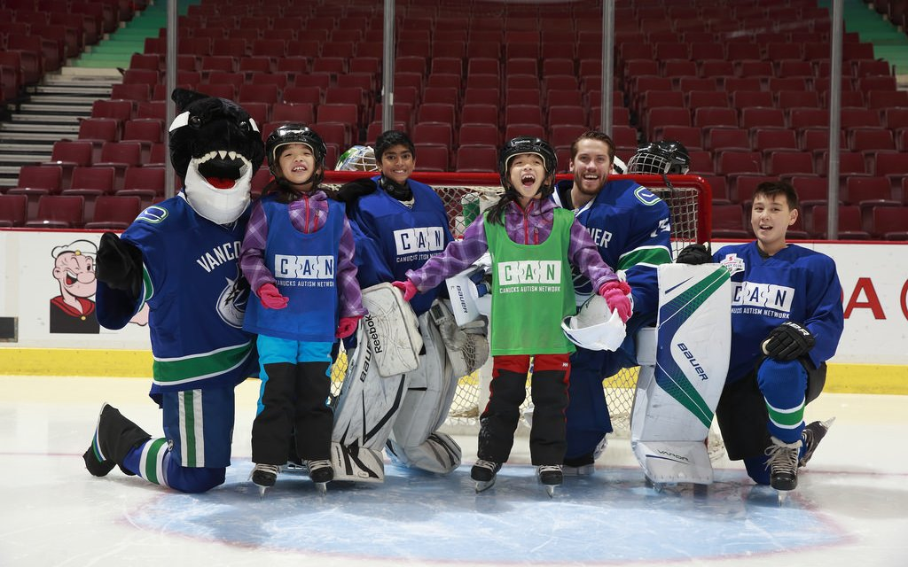 Game Day: Canucks and Sunrype support families living with Autism