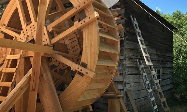 Grist Mill waterwheel turns again