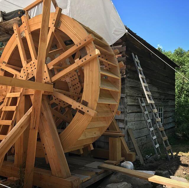 Grist Mill waterwheel turns again