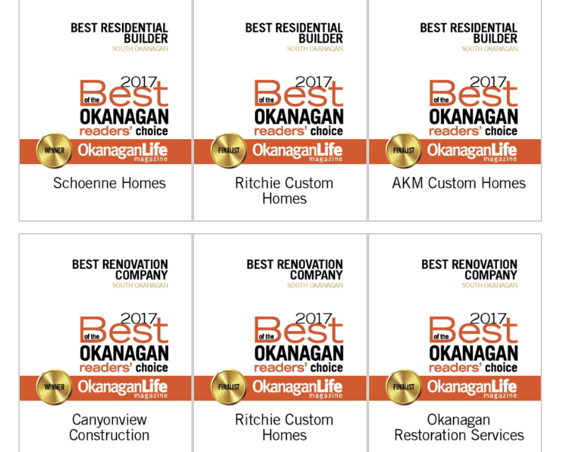 Best of the Okanagan Construction – South Okanagan
