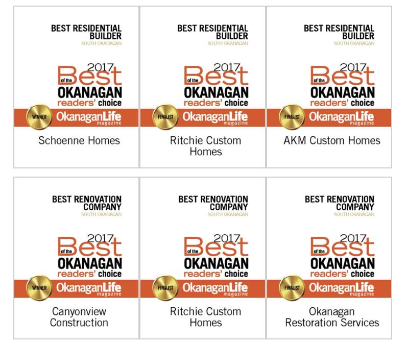 Best of the Okanagan Construction – South Okanagan