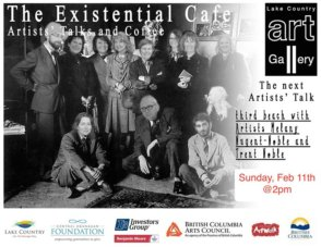 Existential Cafe - Fireside edition @ Lake Country Public Art Gallery | Lake Country | BC | Canada