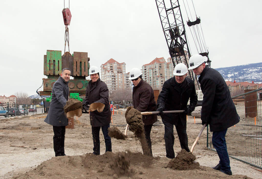 Construction begins on tower in downtown Kelowna