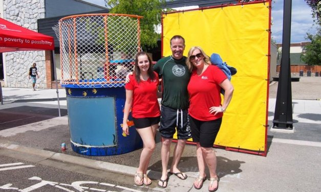 Local celebrities primed to get soaked at the DKA Block Party Dunk Tank