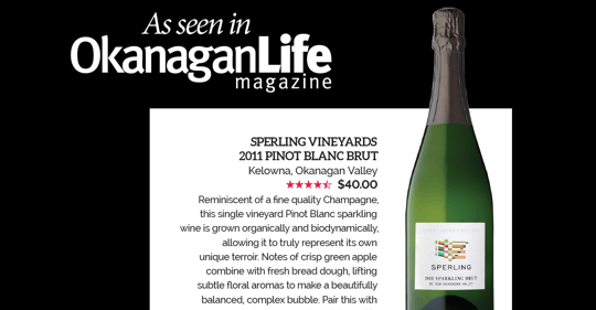 Wine reviews: Sperling Sparkling Brut