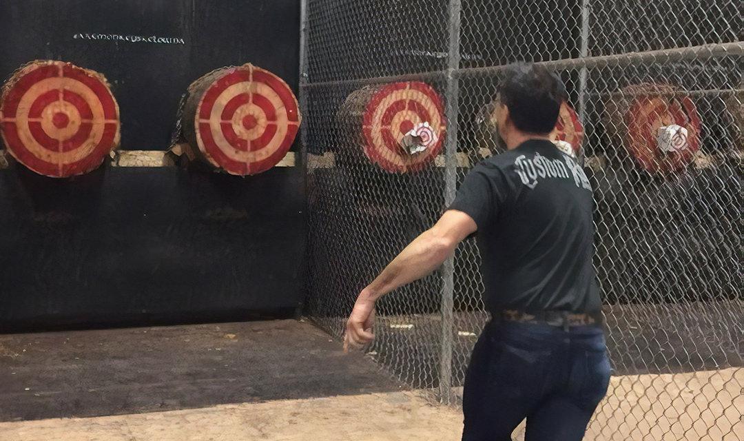 Axe throwing in the Okanagan