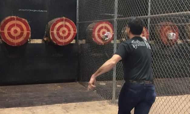 Axe throwing in the Okanagan