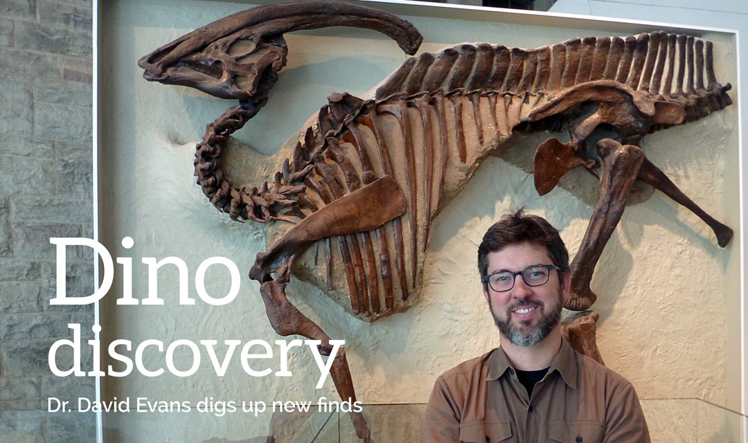 In person with dino hunter Dr. David Evans