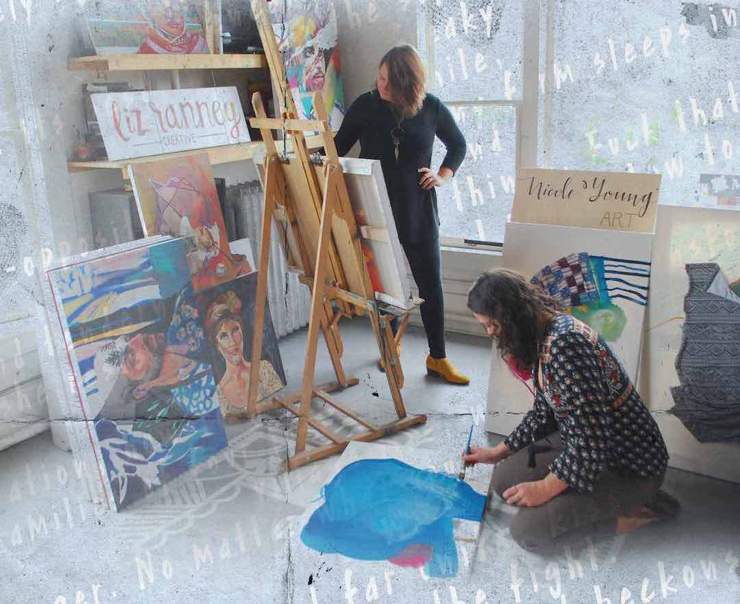 Poet and musician presents paintings at art gallery